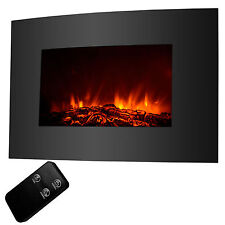 "XL Large 35""x22"" 1500W Electric Fireplace Wall Mount Heater w/ Remote Adjustable"