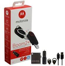 Oem Motorola Boom 2+ Plus Hd Wireless Bluetooth Headset Mh003Acc W/ Car Charger