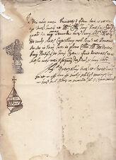 V336-BOLOGNA-1663 CERTIFICATO RILASCIATO AD ANTONIO CAPELLINI
