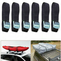 8ft Lashing Strap Heavy Duty Cargo Tie-down Cam Buckle Luggage Car Roof Rack kit