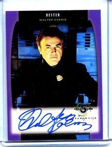 BABYLON 5 - WALTER KOENIG AUTO - 1998 SKYBOX - SEASON 5