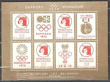 Poland 1972  Olympic games - balloon label - sheet  MNH(**)