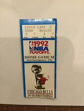 1992 NBA Finals Chicago Bulls Game 6 Clincher Ticket Stub MICHAEL JORDAN Champs
