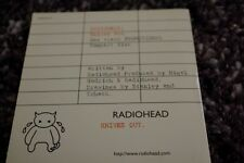 RADIOHEAD KNIVES OUT PROMOTIONAL ONLY AMNESIAC 04 2001