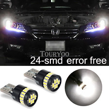 4x Canbus T10 W5W 194 LED Light Parking Bulb for 13-15 Honda Accord Sedan Coupe