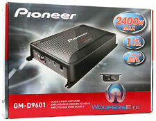 PIONEER GM-D9601 AMP 1 CH BASS 2400W SUBWOOFERS SPEAKERS CAR STEREO AMPLIFIER