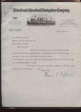 1935 Detroit Tigers Letter to Charles Navin