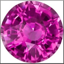 50 pcs 4mm round synthetic pink colored sapphire Top lustering** Lot no. MD641