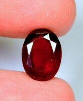 7.4Ct Natural Reddish Hessonite Garnet Oval Cut Cabochon Ring Size Gemstone A113