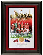2008 Manchester United Squad Ronaldo signed poster with Sasigned coa