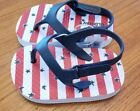 Old Navy Baby 3-6 12-18 18-24 MONTHS Flip Flops Sandals RED WHITE BLUE July 4th
