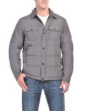 NEW 32 Degrees Heat Men's Down Shirt Jacket Cloud Cover Melange Grey 2XL XXL