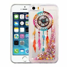 For iPhone 5/5S/SE Dreamcatcher/Gold Stars Quicksand Glitter Hybrid Case Cover