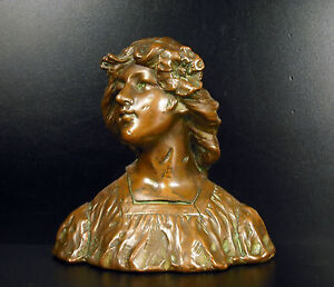 Gustave Van Vaerenbergh Bust Art Nouveau 1900 Per The Mayor Of Laval