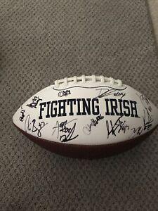 Notre Dame Football 2016-17 Season Autographed Football 42 Autographs