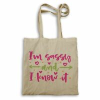 I'm Sassy and I know it Tote bag hh108r