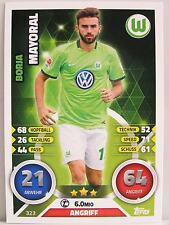 Match Attax 2016/17 Bundesliga - #323 Borja Mayoral - VfL Wolfsburg