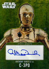 Star Wars Evolution Autograph Auto Anthony Daniels C-3PO Gold 10/10