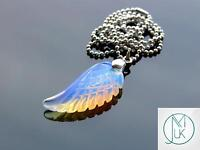 Opalite Gemstone Angel Wing Pendant Necklace Chakra Reiki Healing Stone