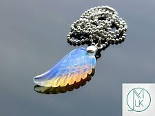 Opalite Gemstone Angel Wing Pendant Necklace Chakra Reiki Healing Stone