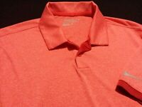 Nike Golf Dri-Fit Mens Medium Short Sleeve Solid Red Athletic Polo Golf Shirt