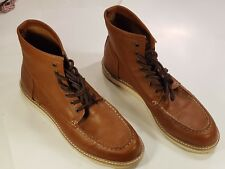 NEW LOOK Tan Brown Leather Mens Ankle Boot UK 11 EU 45 Preworn Excellent Cond