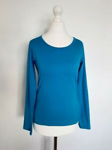 Noa Noa Womens Activewear Long Sleeve Top Size S Workout Stretch Bright Teal