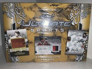 2019 Leaf Ultimate Sports Box Sealed-maybe Last 1 Anywhere-Auto- Patches-Invest!