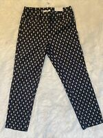 NWT ANN TAYLOR LOFT CROPPED JULIE THE RIVIERA PANTS SIZE 2 COTTON IN BLUE