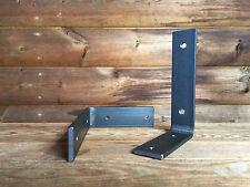 Metal Shelf Brackets 130mm Scaffold Board Industrial Steel Shelving (Set of 2)