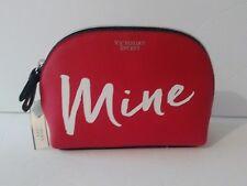 Victorias Secret Mine Beauty Bag Wristlet Zip Red Makeup Case