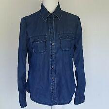 BANANA REPUBLIC Blue Jean Shirt Size Small  Blouse Top button down long sleeve