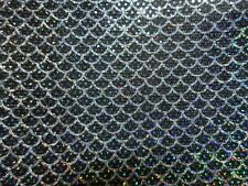 "2 yards 30"" stretch spandex slinky with mermaid print holographic sequined dots"