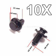 10X Bumper, Engine Cover, Fender Clips, Push Type Retainers for Subaru
