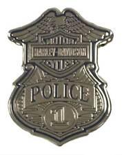 Harley-Davidson 1.25 in. Police Shield Badge Pin, Shiny Silver Finish 8009151