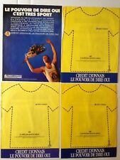 LOT PUBLICITES ANNEES 80 SPECIAL CREDIT LYONNAIS TOUR DE FRANCE 87-88