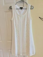 Women's AB Studio White Crocheted Dress. Size Large NWOT
