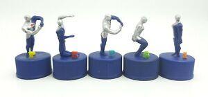 Pepsi Man Pepsiman bottle cap figure collection toy Japan lot of 5 letters