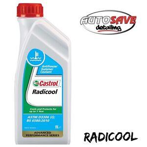 Castrol Radicool Antifreeze Concentrate Summer Coolant Anti Freeze 1 Litre 1L