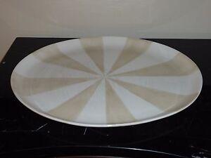 """Large Jonathan Adler Happy Home Stripes Oblong Serving Platter 18 1/4"""" X 14 1/8"""""""