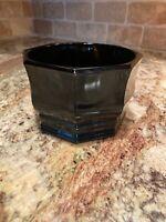 Vintage- Black Amethyst Glass - Dip Serving Bowl - Octagon panels