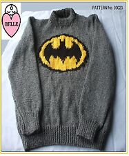 458ce295f Knitting pattern.Batman style Pullover