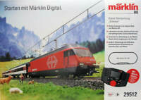 Marklin HO 29512 Swiss Deluxe Starter Set SBB Re 460 and 3 passenger cars RARE!