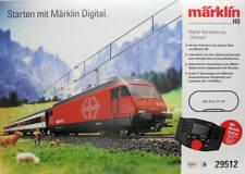 Marklin HO 29512 Swiss Deluxe Starter Set SBB Re 460 and 3 passenger cars RARE!