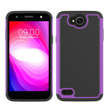 For LG X Charge Case Hard and Soft Silicone Hybrid Shockproof Protective Cover