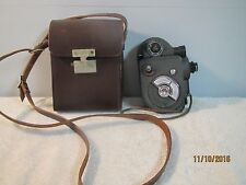 """The Revere"" Double 8 MM Movie Camera with Leather Carry Case"