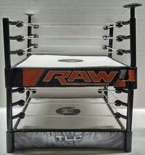 2010 & 2013 WWE Raw & TLC Action Figure Wrestling Fighting Ring Playset LOT of 2