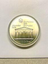1974 Montreal 1976 Olympics Ten Dollar Temple of Zeus Silver #599