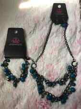 Paparazzi Jewelry Necklace & Bracelet Set- Watch Me Now & Hold my drink- blue