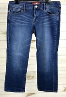 Lucky Brand Jeans Womens Sweet N Crop Capri Pants Sz 8/29 Medium Wash EUC A1707